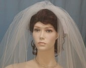 Crystal Silver Beaded Edge  Bridal Veil edged with Swarovski Crystals and SILVER Bugle Beads Veils available in shoulder to waltz length