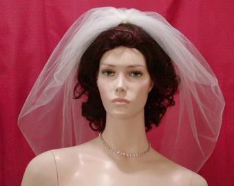 1 tier Bubble / Blusher bridal veil
