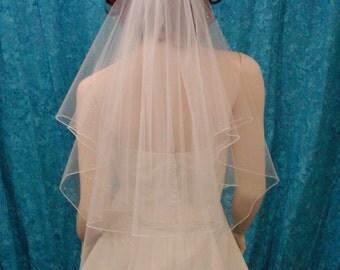 crystal accented circle bridal veil