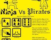 Ninja Vs. Pirates Card Game