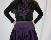 Purple and Grey Skirt - Custom Made - Free Shipping