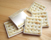Saltine Cracker matchbook notepads - Set of 5 - printed on 100% recycled paper