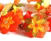 Tropical Autumn Resin flower bracelet