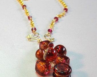 ruby glow necklace