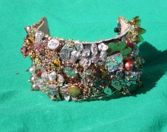Beadwoven  Cuff Bracelet-  METALLICA