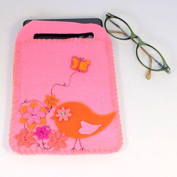 e-reader cover, carrier, garden birdy