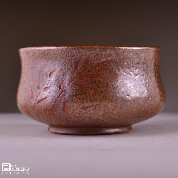 Soda-fired Stoneware Tea Bowl (Matcha Chawan)