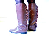 lace up riding boots, size 6