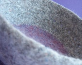 Hidden Purple Felted Bowl - Pure Wool in Purple and Grey