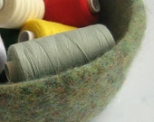 Felted Bowl , In Woodland Green