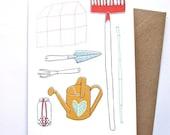 Card - Gardening tools