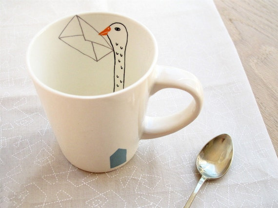 Mug - bird letter