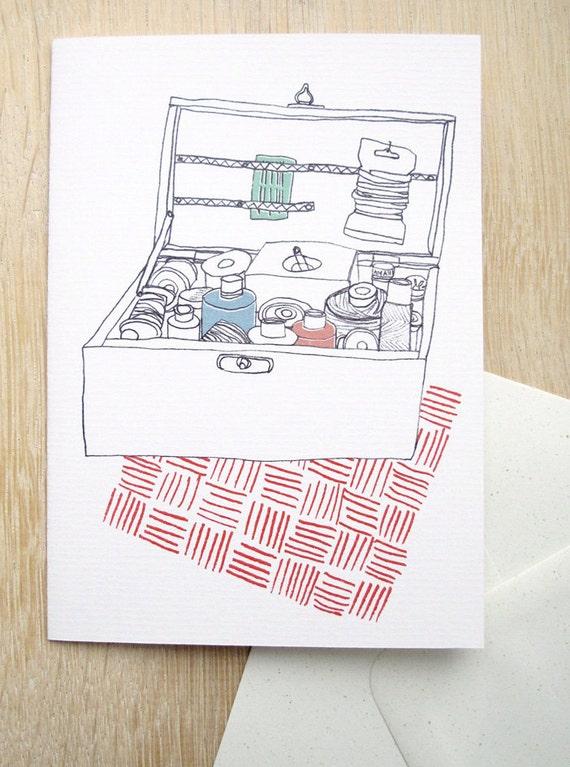 Card - Sewing box