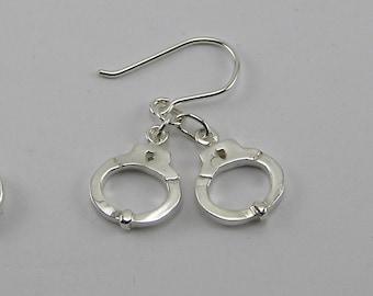 Sterling Silver Handcuff Earrings CE36S