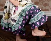 Capri Ruffle Pants in Spreading Her Wings