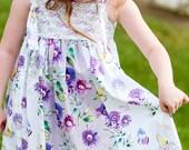 Girls Knot Dress Butterflies and Sunshine