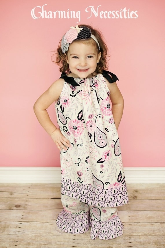 Girls Pillowcase Dress in Springtime in Paris
