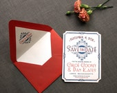 Art Deco/Vintage Glam Save the Date Custom PDF or Printed For You