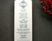 Art Deco/ Vintage Glam Wedding Program -- DIY or Printed For You
