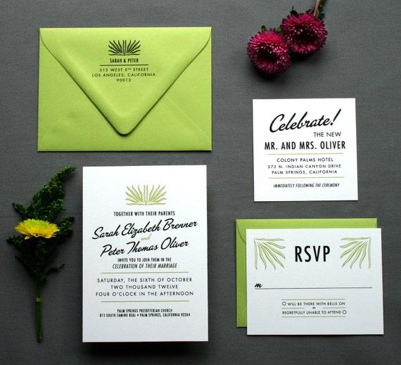 Vintage Hollywood Wedding Invitations -- The Palms Springs -- DIY Wedding Invitation PDF or Printed for You