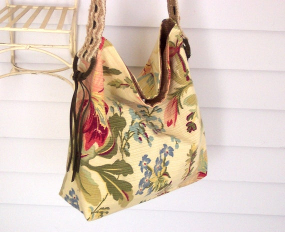 Vintage Look Slouch Purse