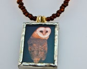 Reversible Night Owl Picturebox Necklace