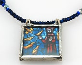 Saint Francis and the Wolf - Reversible Picturebox Necklace
