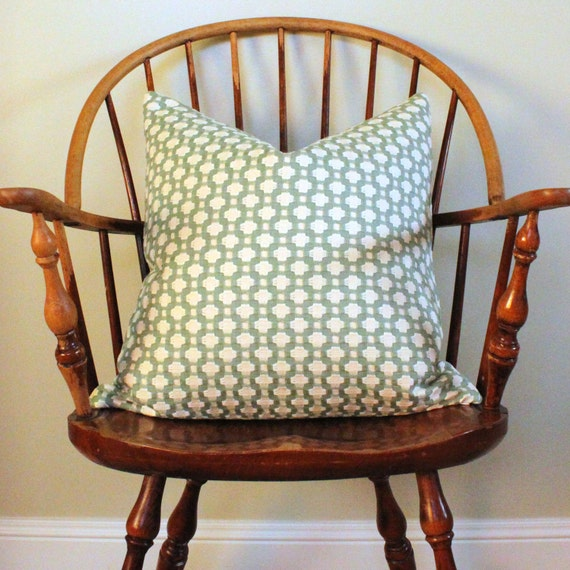 """Schumacher """"Betwixt"""" in Water - 20"""" Pillow Cover - Pattern on Both Sides"""