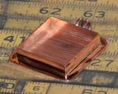 Wonderful Large Copper Square Pendant Blank