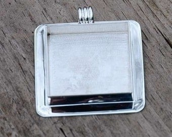 Wonderful large sterling plate pendant