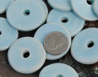 5 Round Beads In Blue Heaven