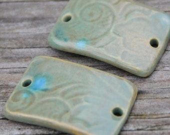 Lilypad Rectangle Curved Bead