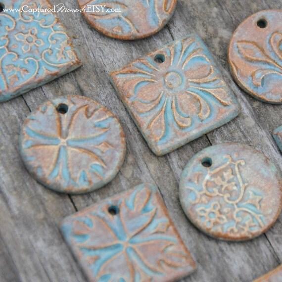 4 Sea Green Pendant Bead Sets