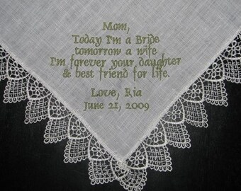 Monogrammed Linen Handkerchiefs -something blue CUSTOM order please