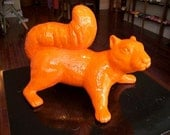Squirrel, Ceramic, Orange, Indoor/Outdoor Sculpture