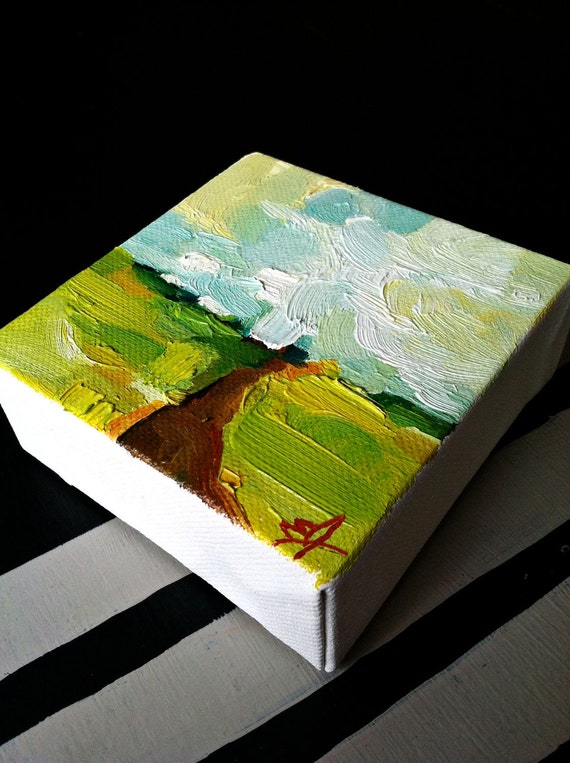 Summer's End: Little Original Oil Landscape Painting