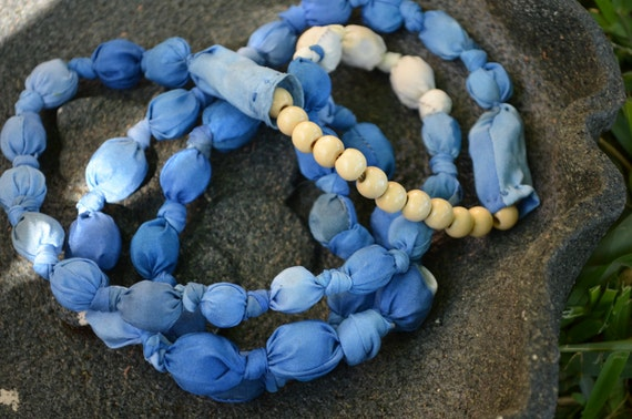 Blue Silk Necklace