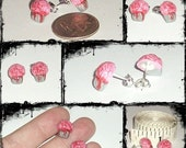 Made to Order Zombies Love cupcakes Stud Brain earrings
