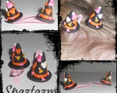 Super tiny super cute witch hat hair clips light weight great for younger girls