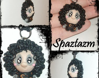 A smaller more round Version of my Chibi Edward Scissor hands Necklace One of a kind