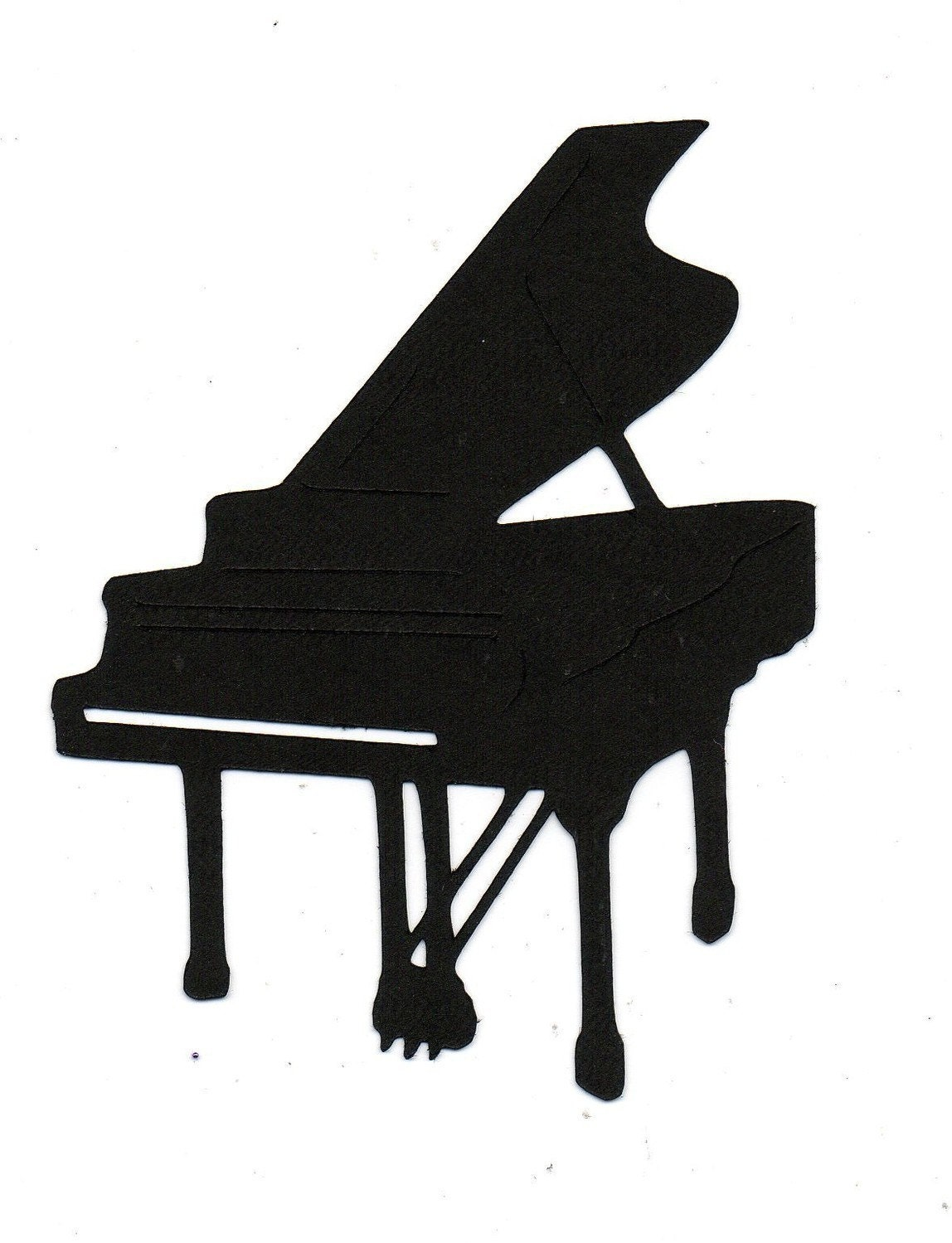 Piano Silhouette die cut for scrap booking by ...