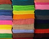 felt sheets 9 x 12 - your choice of any twenty (20) colors