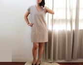 vintage taupe Gray mini dress