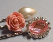 bobby pins . pink contessa .