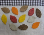 Felt autumn leaves