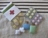 Felt first aid kit