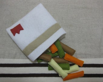 Felt mix vegetable snack