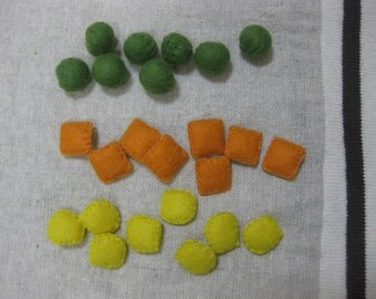 Felt mixed vegetables