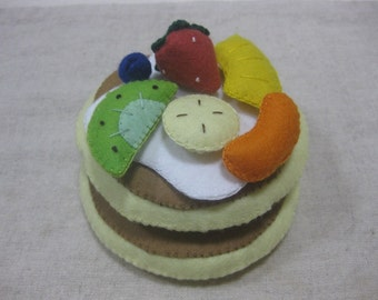 Felt fruit pancake