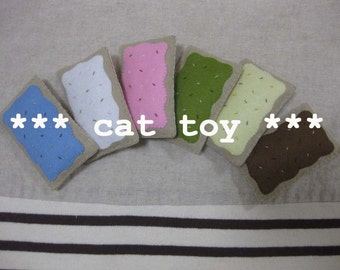 3 felt catnip pastry your choice (cat toy)